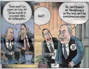 Cartoon: Netanyahu meets Obama