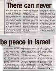 No peace in Israel (2)
