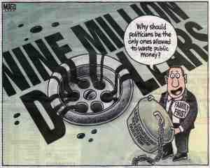 $9 million down the drain