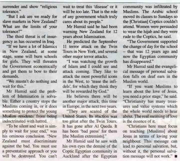 'Former jihadist' warns New Zealand (2)