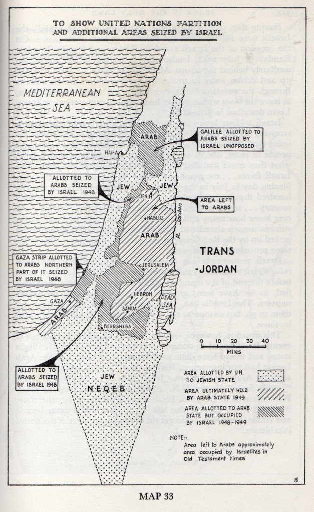 Areas seized by Israel in war of 1948