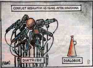Conflict resolution 65 years after Hiroshima