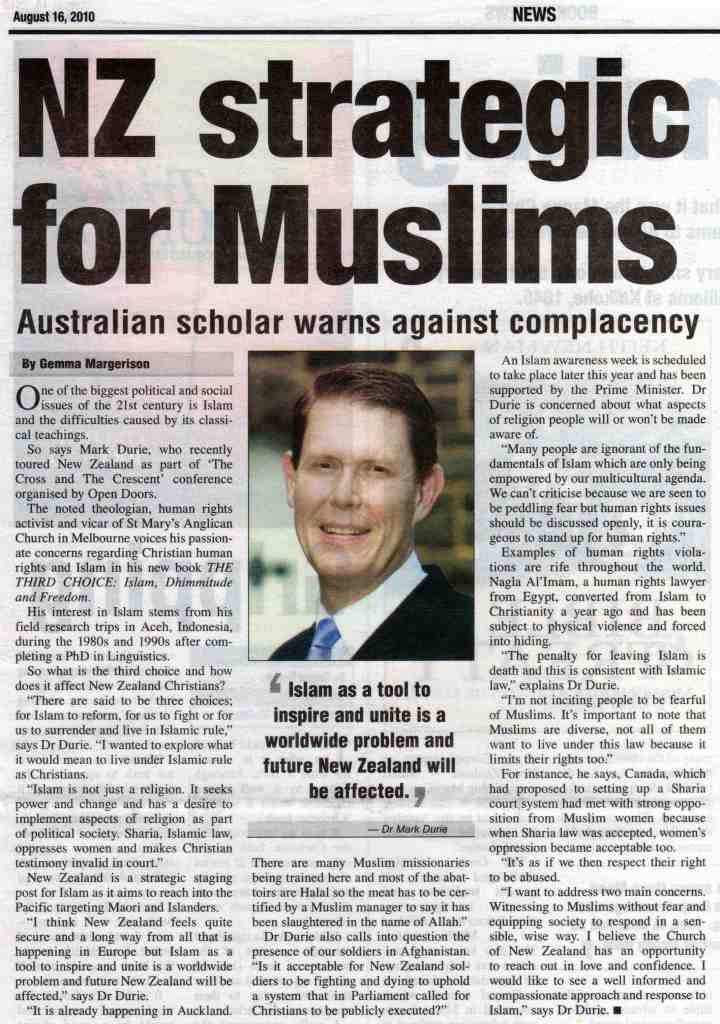 NZ strategic for Muslims
