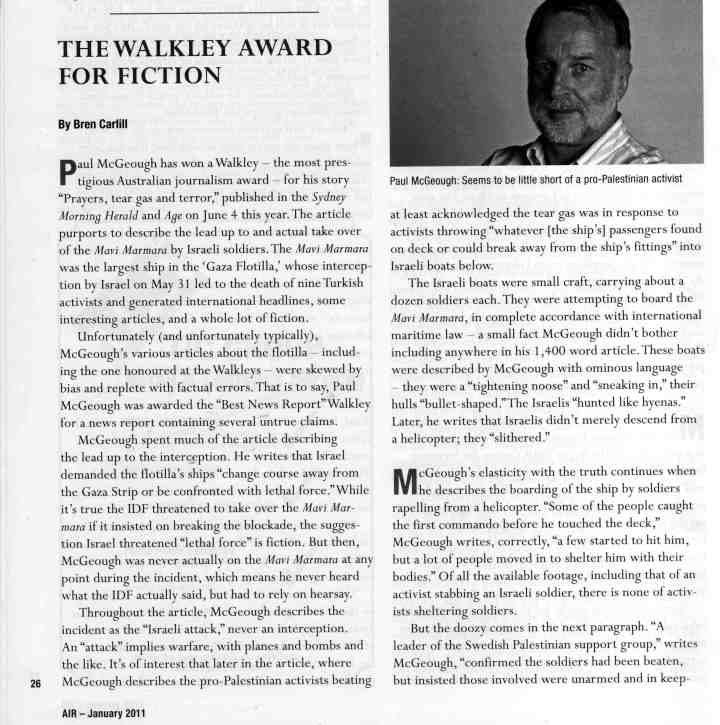 'The Walkley Award for fiction,' Part 1
