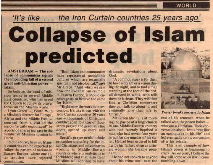 Collapse of Islam predicted