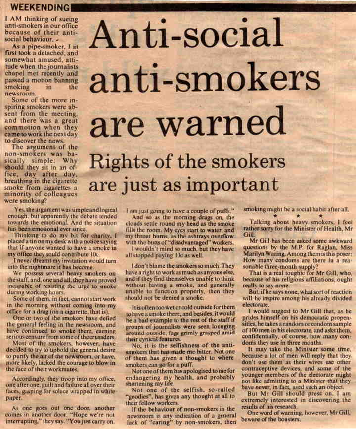 Anti-smokers warned