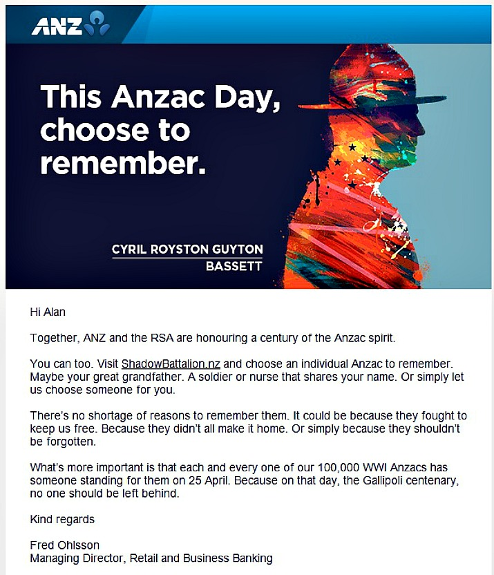 Anzac Day appeal